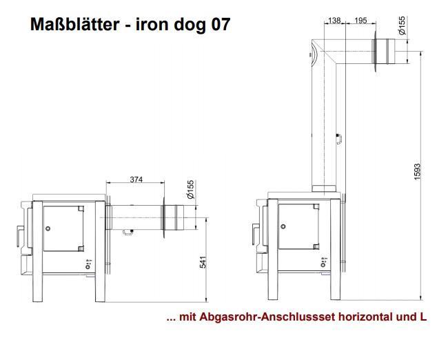 печь iron dog 07 чертеж 1