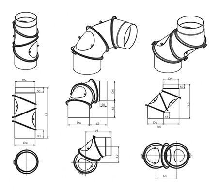 Подключение колена Дарко 4-секц