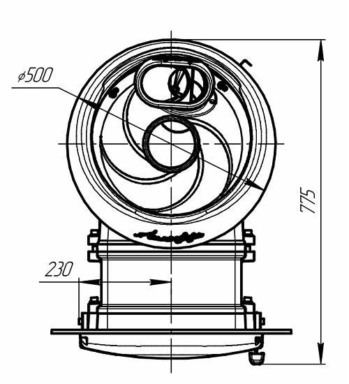 Банная печь Атмосфера Прометалл чертеж